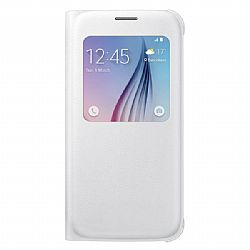 Samsung S-View PU Flip Cover for Samsung Galaxy S6 - White