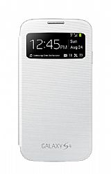 Samsung Galaxy S4 S-View Flip Cover Case - White