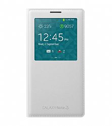 Samsung S View Flip Cover for Samsung Galaxy Note 3 - White