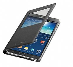 Samsung Galaxy Note 3 Wireless Charging S-View Flip Cover - Black