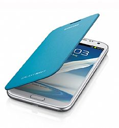 Samsung Flip Cover Case for Galaxy Note 2 II (Light Blue)
