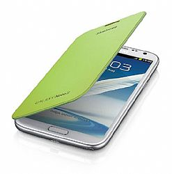 Samsung Flip Cover Case for Galaxy Note 2 II (Lime Green) OPEN BOX