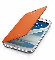 Samsung Flip Cover Case for Galaxy Note 2 II (Orange)