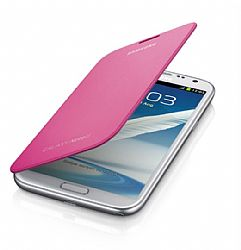 Samsung Flip Cover Case for Galaxy Note 2 II (Pink)