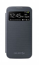 Samsung Galaxy S4 S-View Flip Cover Case - Black