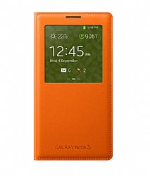 Samsung S View Flip Cover for Samsung Galaxy Note 3 - Orange