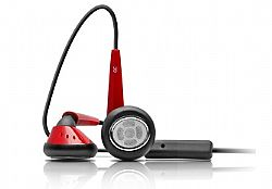 iSkin earTones Stereo Headset in Red