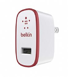Belkin MIXIT Up Home Charger for iPad / iPhone (10 Watt/2.1 Amp) Red