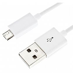 Generic 1 Ft. Micro USB Charging Cable Spare Part for warranty purposes- White