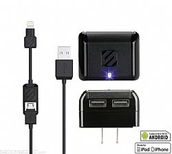 Scosche strikeBASE Dual 5 Watt USB Wall Charger - Black