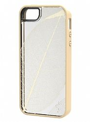 M-Edge Stripped Case for Apple iPhone 5s/5- Tan Leaf