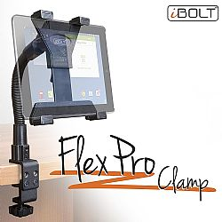 iBOLT TabDock FlexPro Clamp- Heavy Duty C-Clamp mount for all 7 to 10 inch tablets