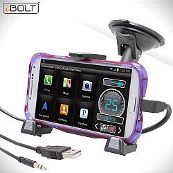 iBolt xProDock for Samsung with 9ft charge/aux-cable