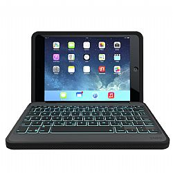 ZAGG Rugged Case and Keyboard- Apple iPad mini 3 Retina-Black Case-Black KB