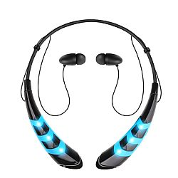 Jarv Wave LED Wireless Bluetooth Neckband Headset, Blue