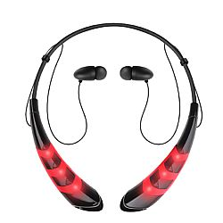 Jarv Wave LED Wireless Bluetooth Neckband Headset, Red