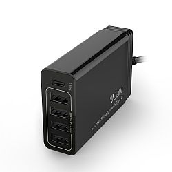 Jarv PPS 40W 5-Port USB Charger With Type C For Smartphones/Tablets & More
