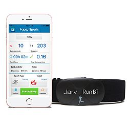 Jarv Premium Bluetooth� 4.0 Smart heart rate monitor for IPhone 4S / IPhone 5 / IPad Mini / new IPod Touch and other Bluetooth devices (iOS only) Black (Soft strap)