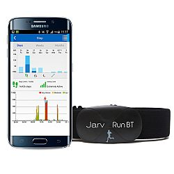 Jarv Run BT Premium Bluetooth® 4.0 Smart heart rate monitor for iOS 7.1 and Android 4.3 or later devices, Black (Soft strap)