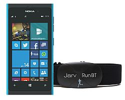 Jarv Run BT Premium Bluetooth® 4.0 Heart Rate Monitor for Windows Devices Running OS 8.1 or Later inc. Nokia Lumia 530, 735, 830, Icon, 930, 1020,1030, 1520 and Other  - Black (Soft Strap)