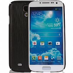 Jarv Brushed Carbon Series cover case for Samsung Galaxy S4, SIV, i9500 2013 Model (ATT, T-Mobile, Sprint, Verizon) - Black/Black