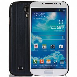 Jarv Brushed Carbon Series cover case for Samsung Galaxy S4, SIV, i9500 2013 Model (ATT, T-Mobile, Sprint, Verizon) Black/Blue