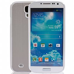 Jarv Brushed Carbon Series cover case for Samsung Galaxy S4, SIV, i9500 2013 Model (ATT, T-Mobile, Sprint, Verizon) White/Silver