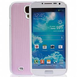 Jarv Brushed Carbon Series cover case for Samsung  Galaxy S4, SIV, i9500 2013 Model (ATT, T-Mobile, Sprint, Verizon) -White/Pink