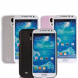 Jarv (PACK of 3) -Brushed Carbon Series cover case for Samsung Galaxy S4 -Black/Silver/Pink
