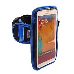 Jarv High Quality Armband for Samsung Galaxy Note 2 / Note 3 / Note 4 with Water Resistant Neoprene Sports Gym Jogging Exercise Strap (Revised Version)-Blue