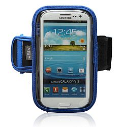 Jarv Sports Running Armband for Iphone 5/5C/5S (with case) and Samsung Galaxy S3, S4, Nokia Lumia 1020 , and HTC One M8  and More - Blue