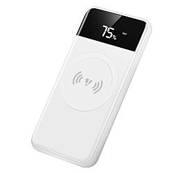Jarv PPS 10,000mAh Power Bank with 5W Wireless Charge Pad and LED Display, White