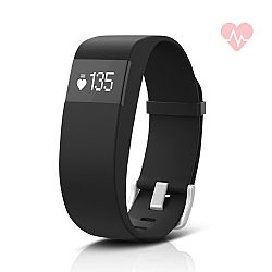 Jarv ActiveFit + HR Water-Resistant Fitness Tracker Activity Band & Smart Watch, OLED Display, Bluetooth Wireless Sync and 7-Day Battery  - Black