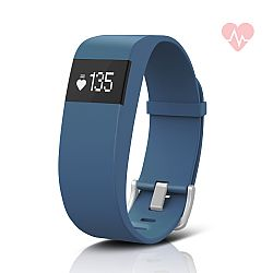 Jarv ActiveFit  + HR Water-Resistant Fitness Tracker Activity Band & Smart Watch, OLED Display, Bluetooth Wireless Sync and 7-Day Battery  - Blue