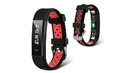 Jarv Action HR Wireless Fitness Tracker with Wrist-based Heart Rate Monitor- Black/Red