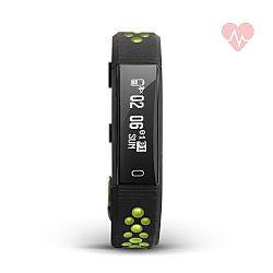 Jarv Action HR Wireless Fitness Tracker with Wrist-based Heart Rate Monitor- Black/Yellow