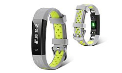 Jarv Action HR Wireless Fitness Tracker with Wrist-based Heart Rate Monitor- Grey/Yellow