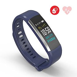 Jarv RunFit Pro Wireless Bluetooth Fitness Activity Band with Built-in Blood Pressure Monitor - Blue