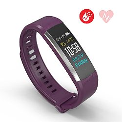 Jarv RunFit Pro Wireless Bluetooth Fitness Activity Band with Built-in Blood Pressure Monitor- Purple