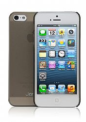 Jarv Super Slim Flexi Snap-on case for iPhone 5, Clear Grey