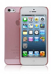 Jarv Super Slim Flexi Snap-on case for iPhone 5, Clear Pink
