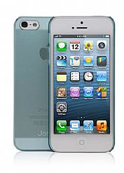 Jarv Super Slim Flexi Snap-on case for iPhone 5, Clear Blue