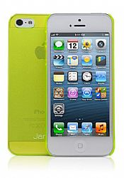 Jarv Super Slim Flexi Snap-on case for iPhone 5, Clear Neon Green