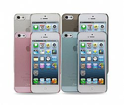 Jarv 4-Pack Super Super Slim Flexi Snap-on case for iPhone 5 - Clear,Smoke,Pink,Blue