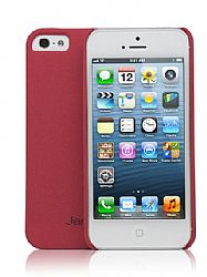 Jarv Sandstone Snap-on case for iPhone 5, Red
