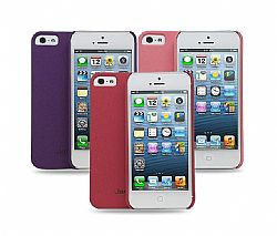 Jarv 3-Pack Sandstone Snap-on case for iPhone 5- Pink,Purple,Red (3 Pack)