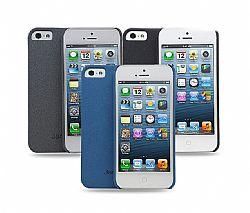 Jarv 3-Pack Sandstone Snap-on case for iPhone 5- Grey,Black,Dark Blue (3 Pack)