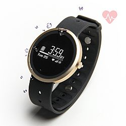 Jarv Advantage + HR IPX7 Water Resistant Smart Watch, Fitness Tracker and Sleep Monitor with Heart Rate Monitor, Refurbished