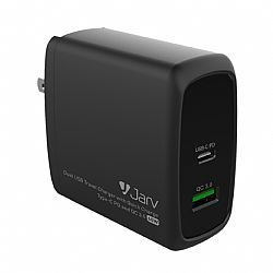 Jarv PPS 60W Dual USB Travel Charger with Quick Charge Type-C PD and QC 3.0
