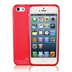 Jarv Flexible TPU Matte finish Snap-on case for iPhone 5, Clear Hot Pink